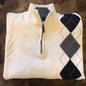 Oscar De La Renta 1/4 zip pullover sweater